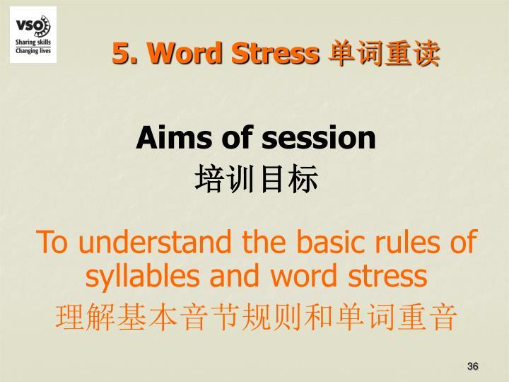 5. Word Stress