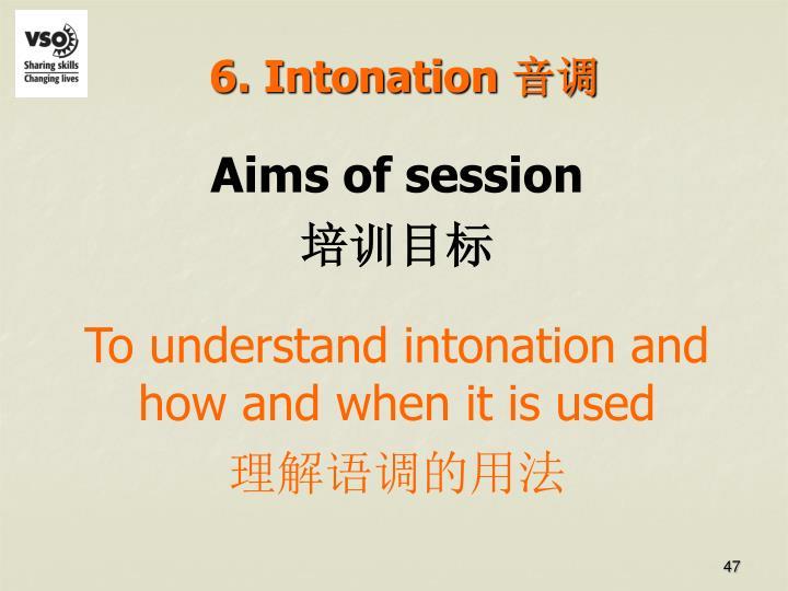 6. Intonation