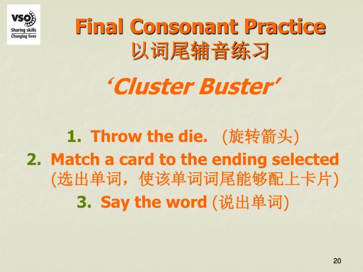 Final Consonant Practice