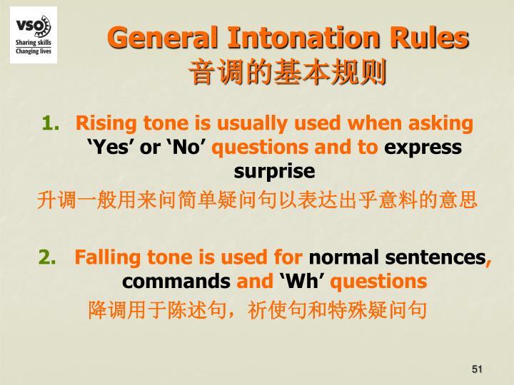 General Intonation Rules