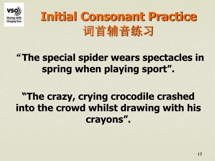 Initial Consonant Practice