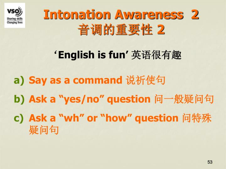 Intonation Awareness  2