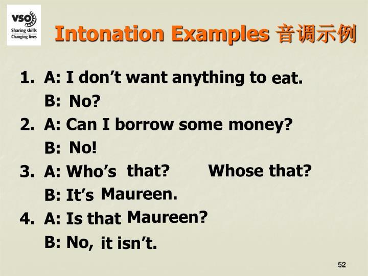 Intonation Examples