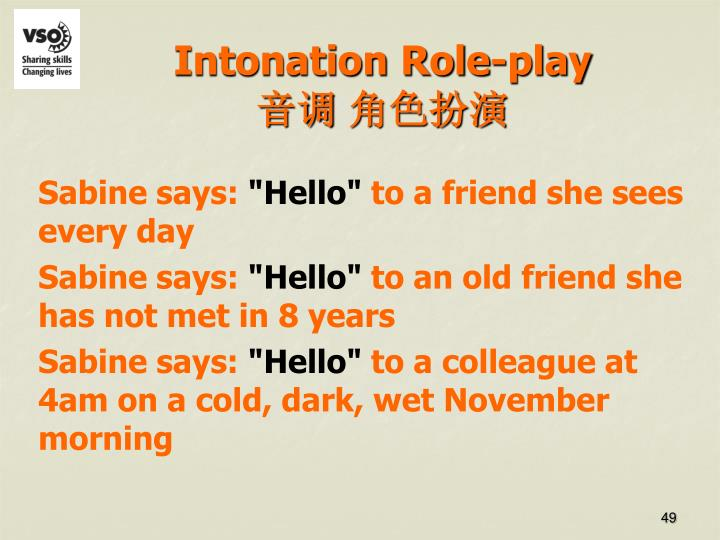 Intonation Role-play