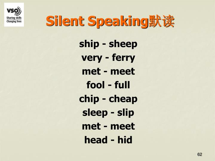 Silent Speaking