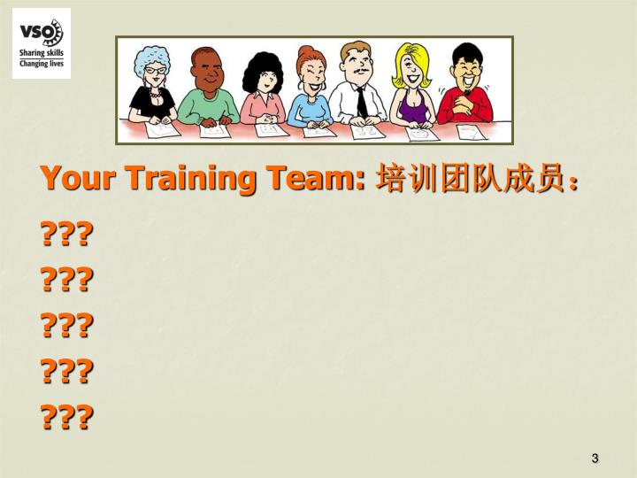 Your Training Team: