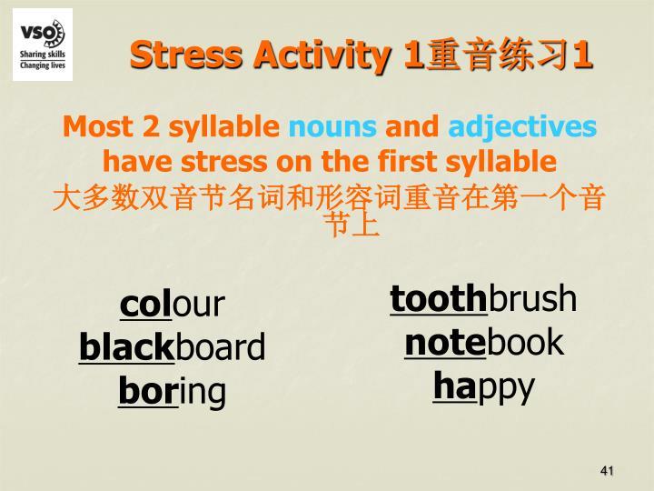 Stress Activity 1