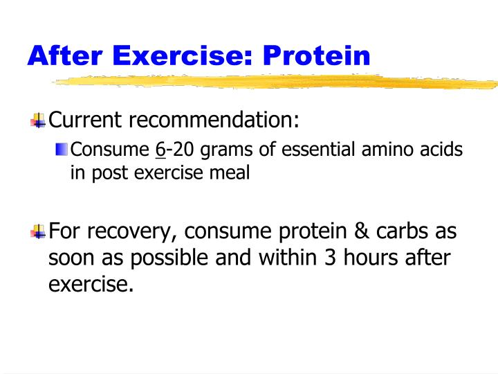 After Exercise: Protein