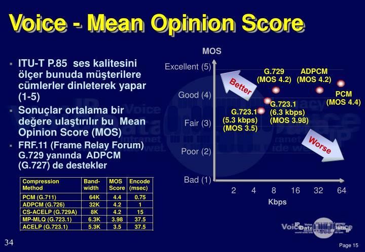 Voice - Mean Opinion Score