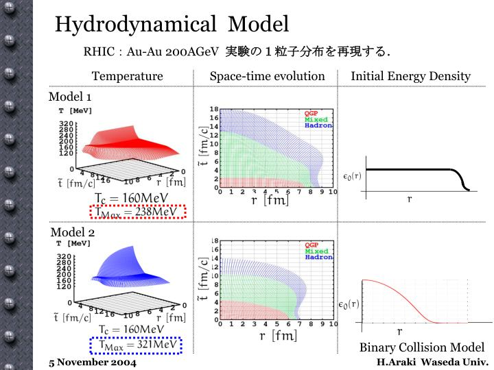 Hydrodynamical  Model