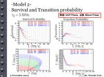 model 2 survival and transition probability