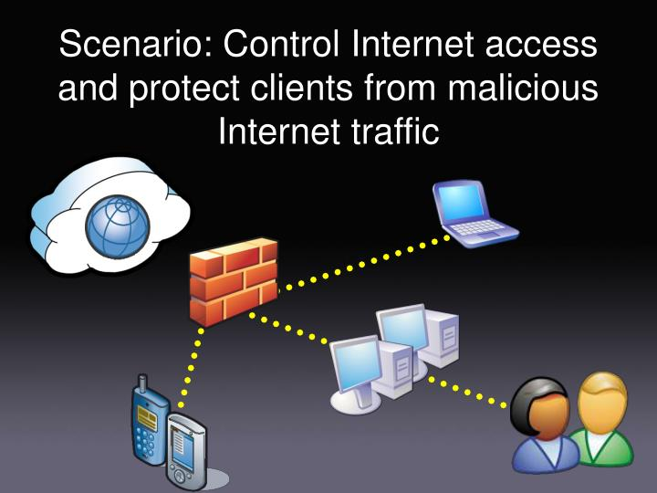 Scenario: Control Internet access and protect clients from malicious Internet traffic