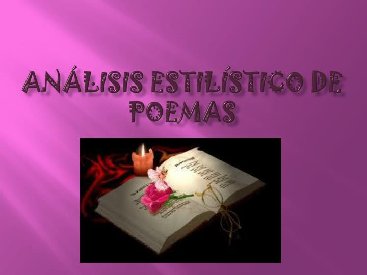 An lisis estil stico de poemas