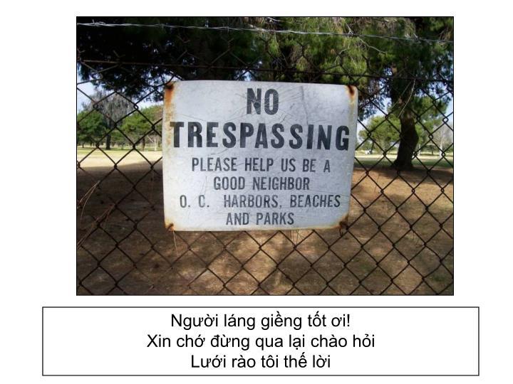 Người láng giềng tốt ơi!