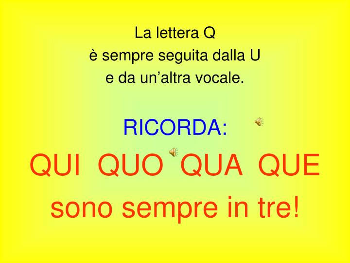 La lettera Q