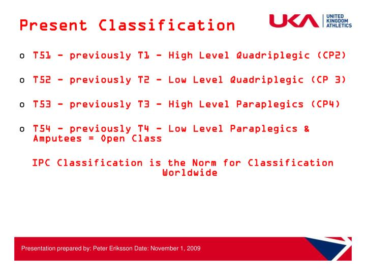 Present classification