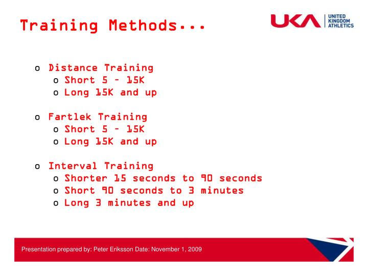 Training Methods...