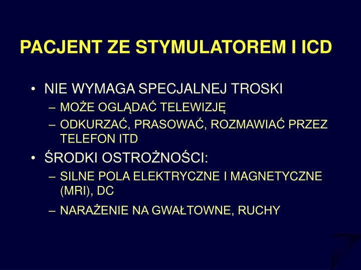 PACJENT ZE STYMULATOREM I ICD
