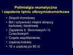 polimialgia reumatyczna i zapalenie t tnic olbrzymiokom rkowe