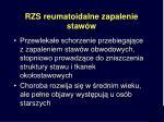 rzs reumatoidalne zapalenie staw w