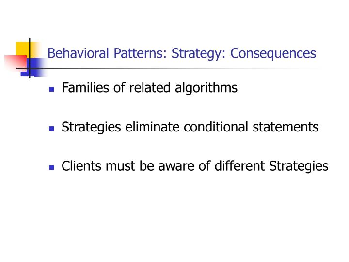 Behavioral Patterns: Strategy: Consequences