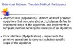 behavioral patterns template method participants