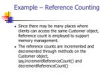 example reference counting