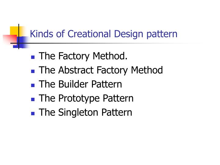 Kinds of Creational Design pattern