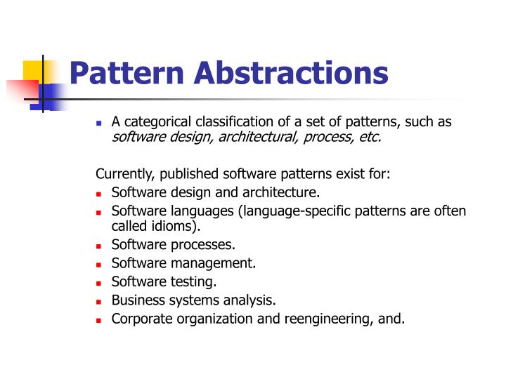 Pattern Abstractions
