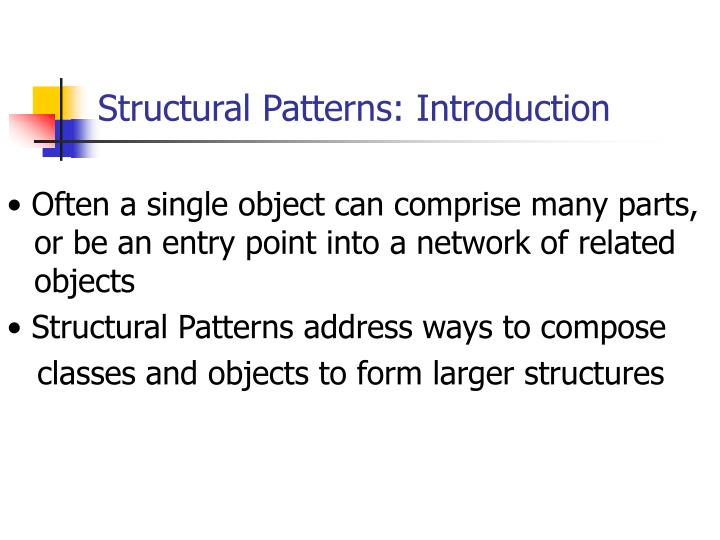 Structural Patterns: Introduction