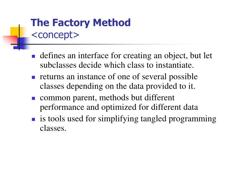 The Factory Method