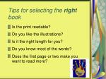 tips for selecting the right book