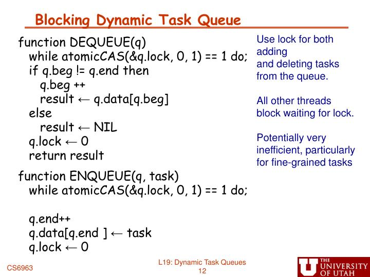 Blocking Dynamic Task Queue