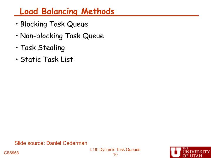 Load Balancing Methods