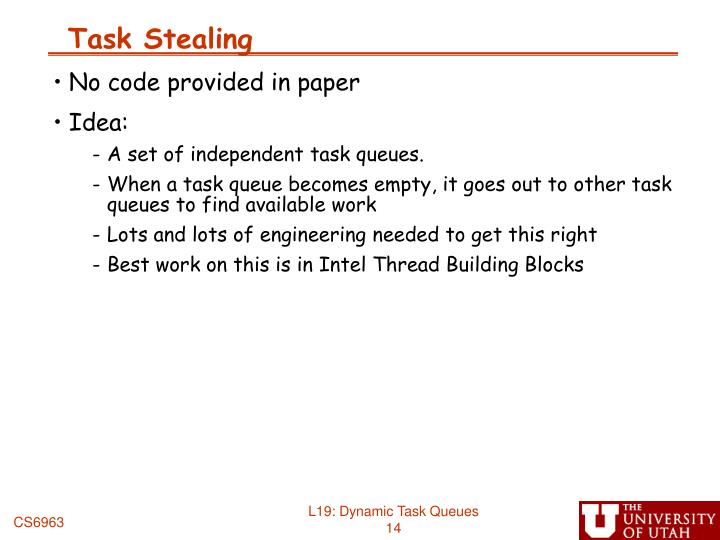 Task Stealing
