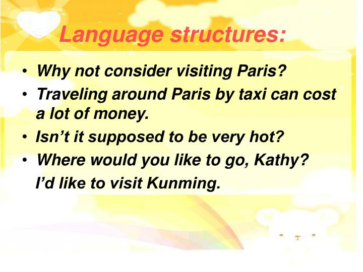 Language structures: