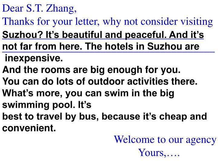 Dear S.T. Zhang,