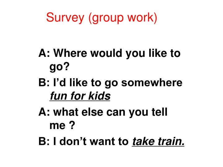 Survey (group work)