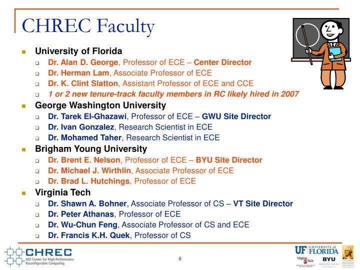 CHREC Faculty