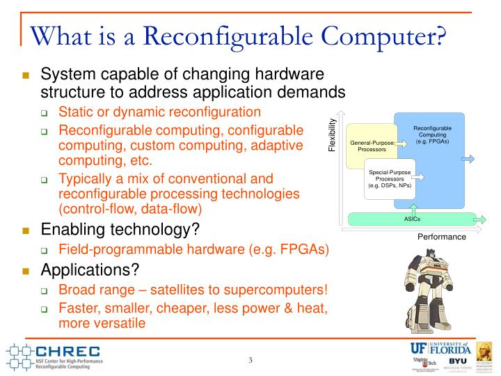 What is a Reconfigurable Computer?