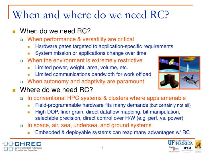 When and where do we need RC?