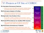y1 projects at uf site of chrec