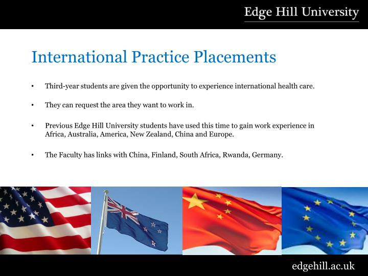 International Practice Placements