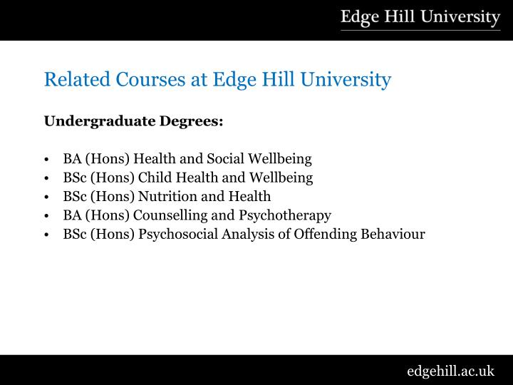 Related Courses at Edge Hill University