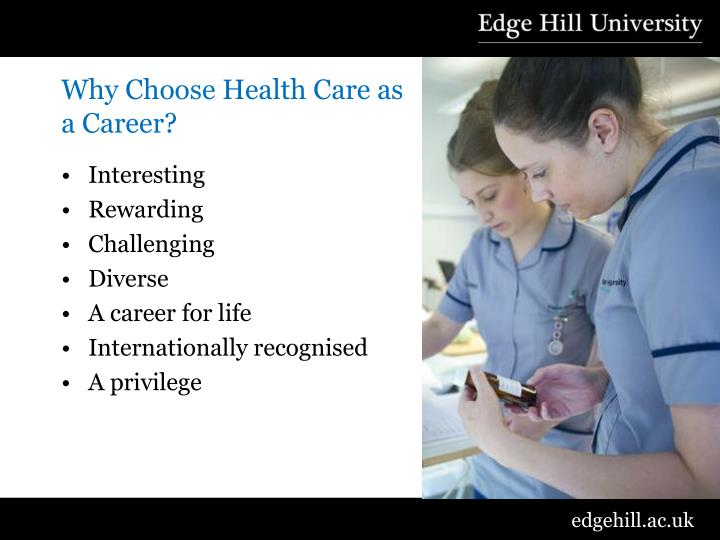 Why Choose Health Care as a Career?