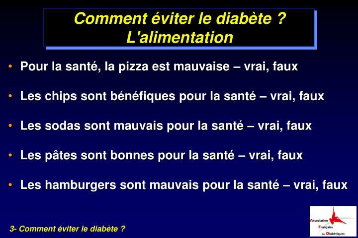 comment eviter le diabete pdf