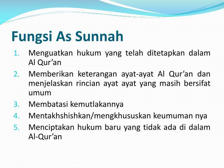 Fungsi As Sunnah
