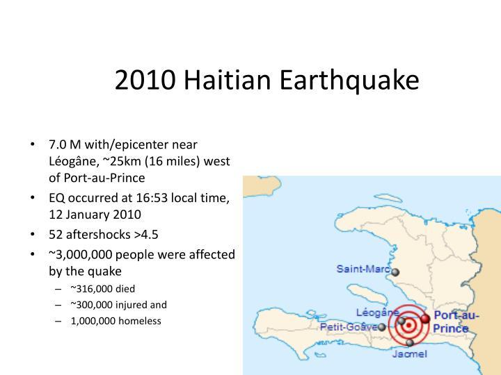 2010 Haitian Earthquake