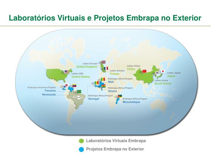 Laboratórios Virtuais e Projetos Embrapa no Exterior