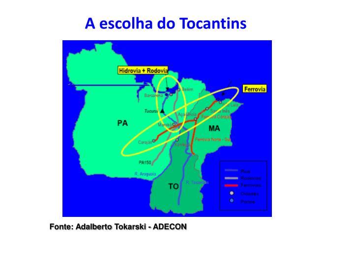 A escolha do Tocantins
